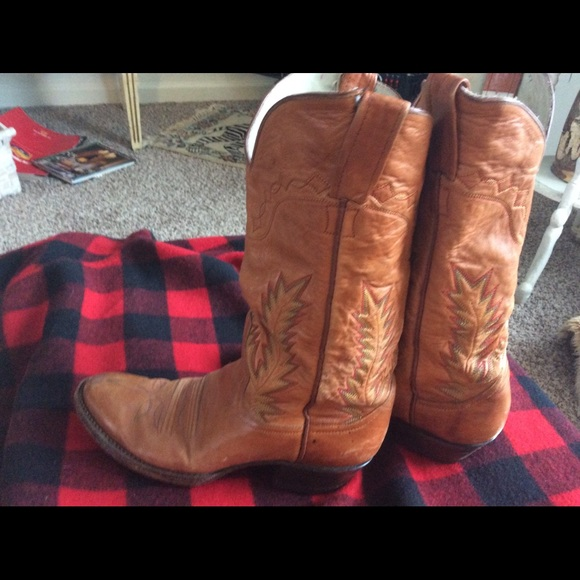 Vntage Shoes - Vintage Western EMBROIDERY Women's Boots Mahan 8M